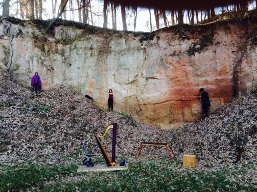 Rehearsals at Nečtiny - quarry, March 2015